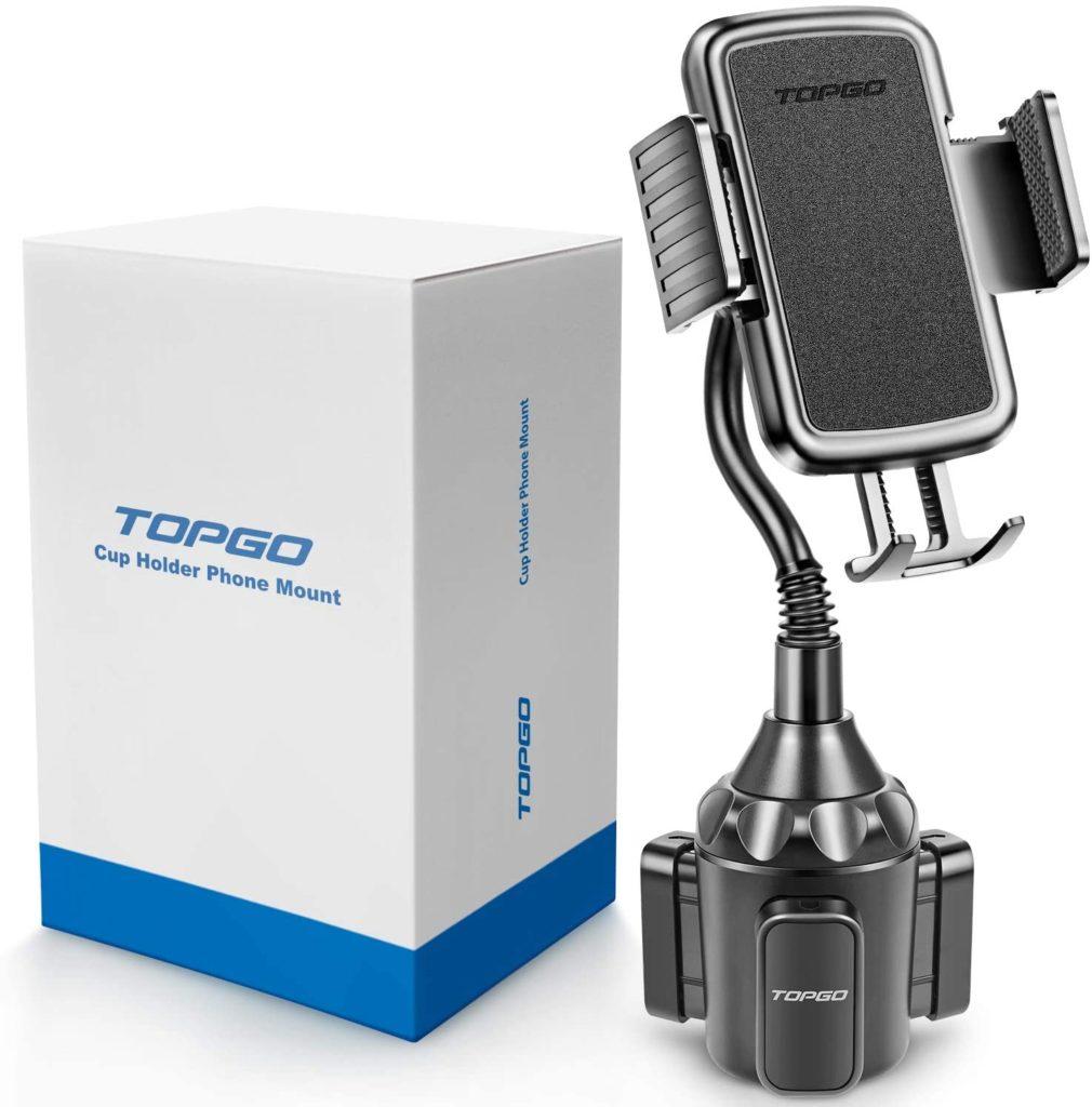 TOPGO Phone Mount Car Gooseneck Upgraded Universal Adjustable