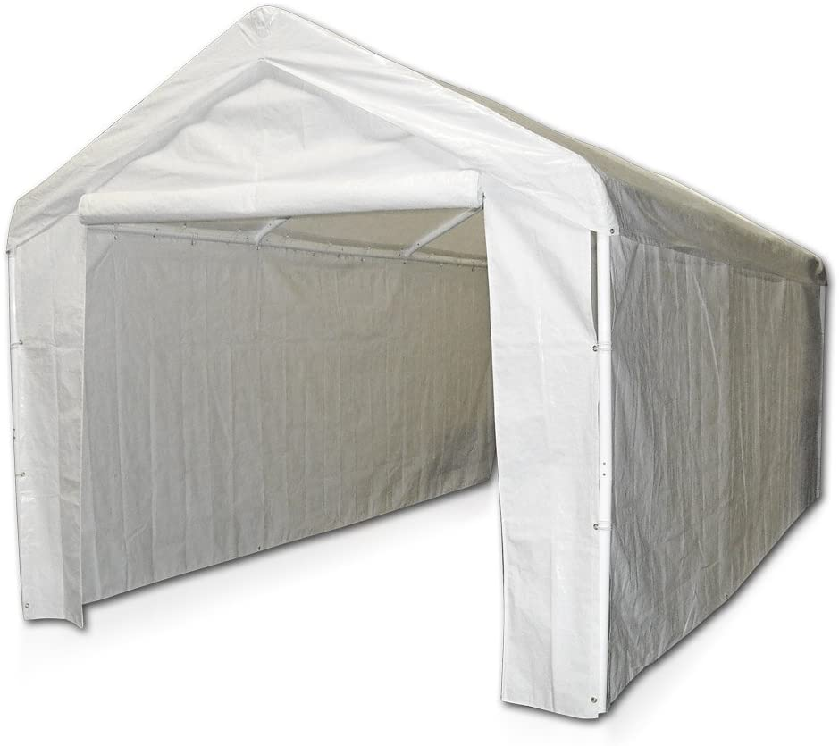Caravan Canopy White Side Wall Car Domain Carport Kit