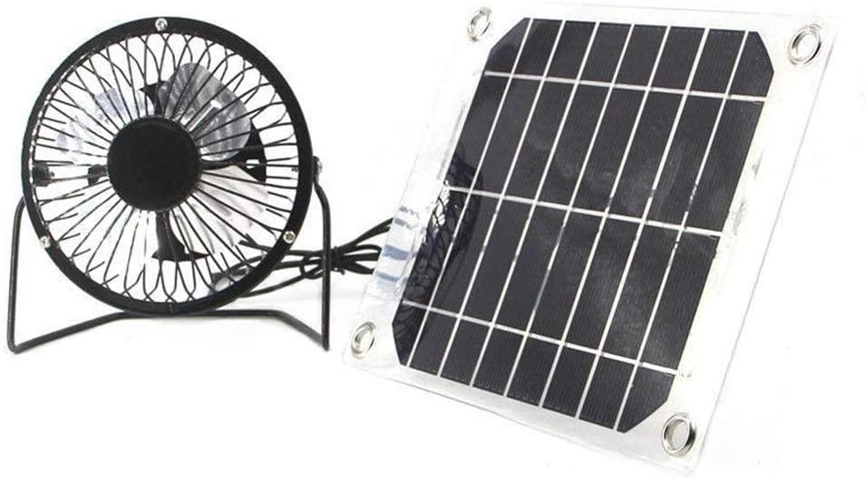 solar Ventilator 4-inch 5W Greenhouse Free Energy House Motor Solar Powered Fan