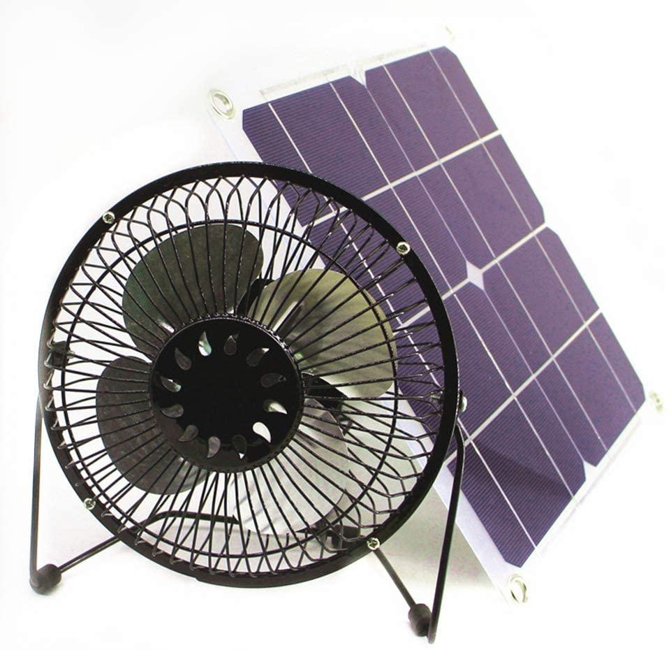 solar fan 10w Powered Ventilation 6-inch Office Outdoor Home Traveling Fishing Solar Fan