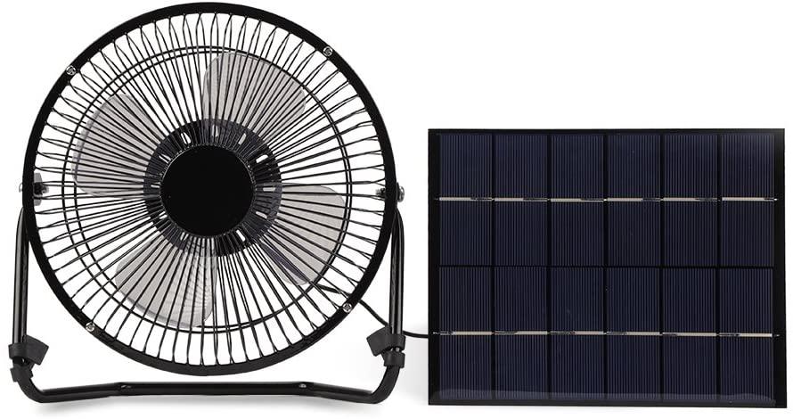 Yosooo USB Solar Home Panel Powered Outdoor Car Mini Portable 8-inch Ventilation Fan