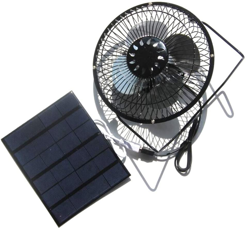 NUZAMAS Solar Panel 3.5W 6V 6 Inch House Ventilator Caravan Yacht Powered Fan
