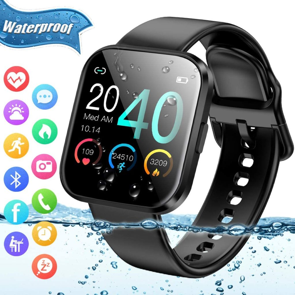 Amokeoo Fitness Kids Activity Tracker Sport Bluetooth Smart Touch Monitor IP67 Watch