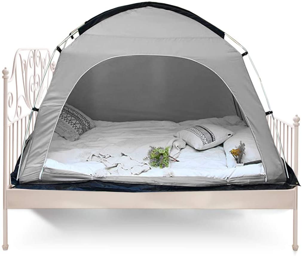 Onnetila Queen Size Gray Kid Shelter Dream Adult Sleep Pod Privacy Canopy