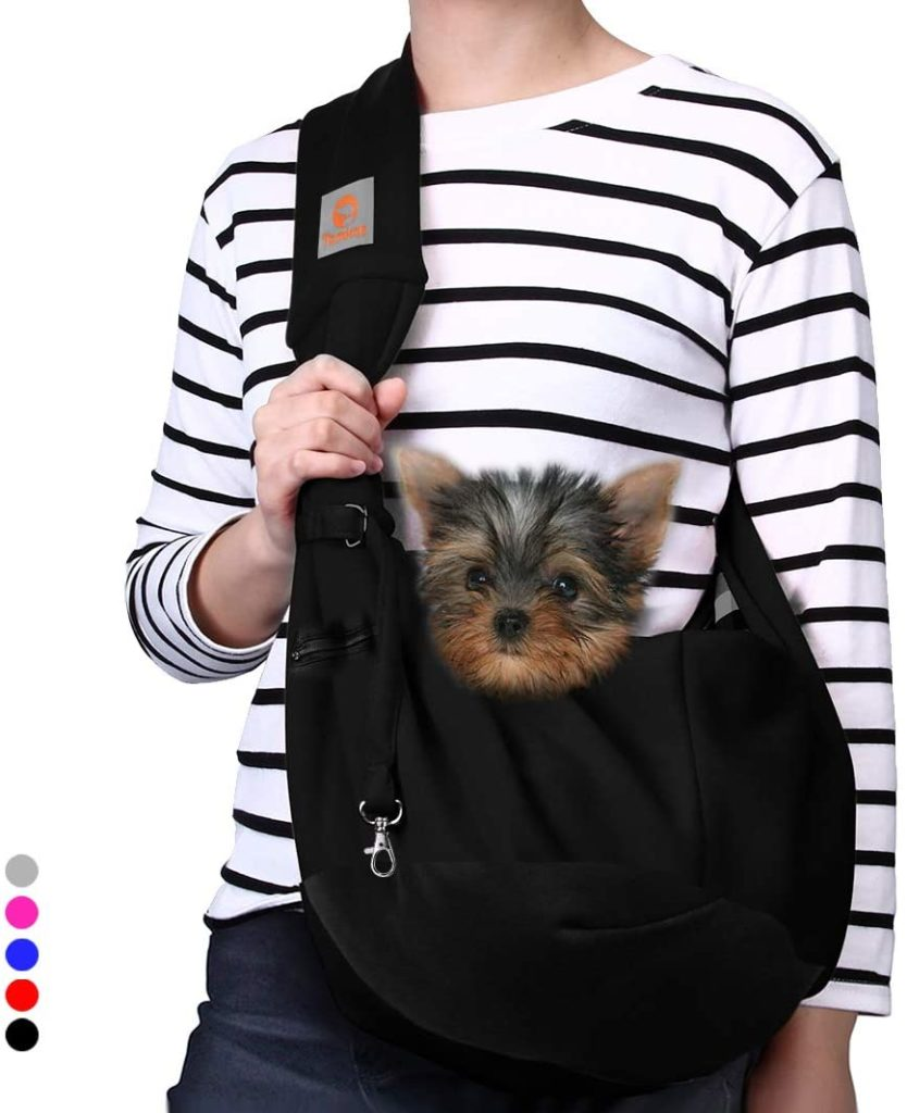 TOMKAS Small Puppy Outdoor Dog Cat Travel Bag Carrier Tote Reversible