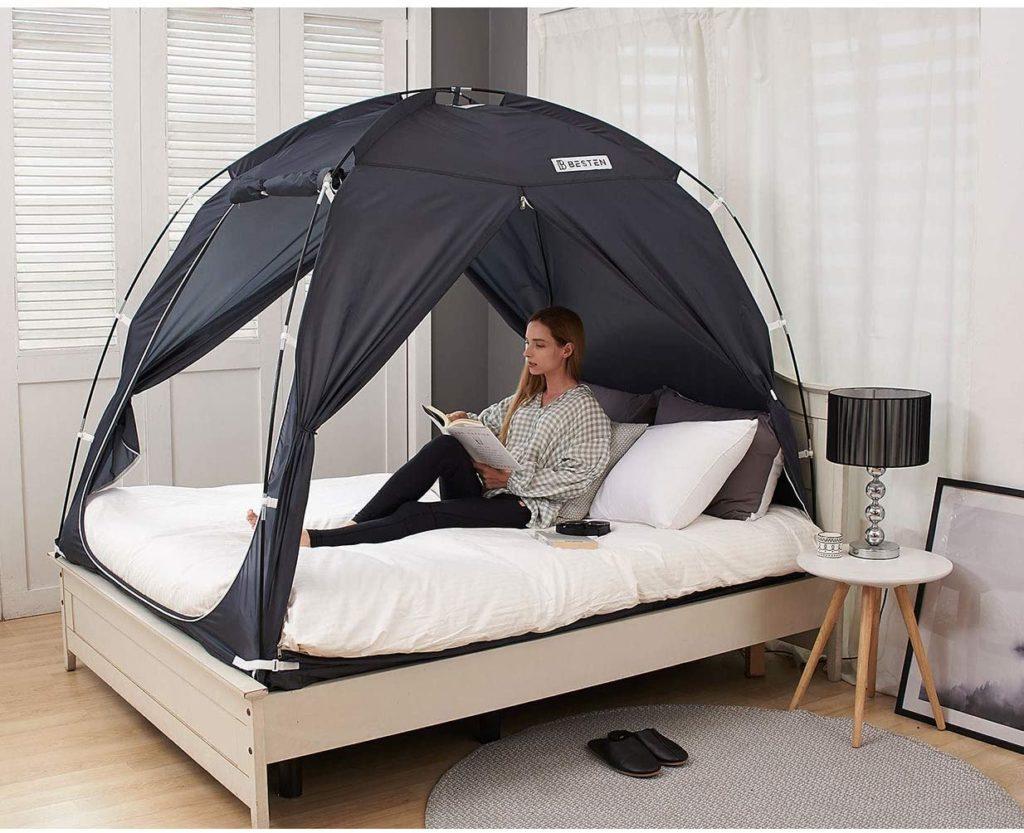 BESTEN Drafty Room Charcoal Floorless Warm Bed Cozy Indoor Privacy Sleep Inside