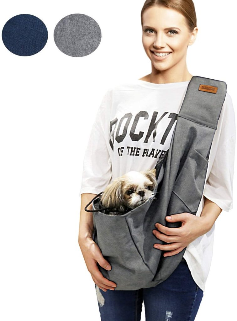 RETRO PUG Small Dog Sling Medium Travel Puppy Bag Chest Holder Carrier Tote Purse Pouch