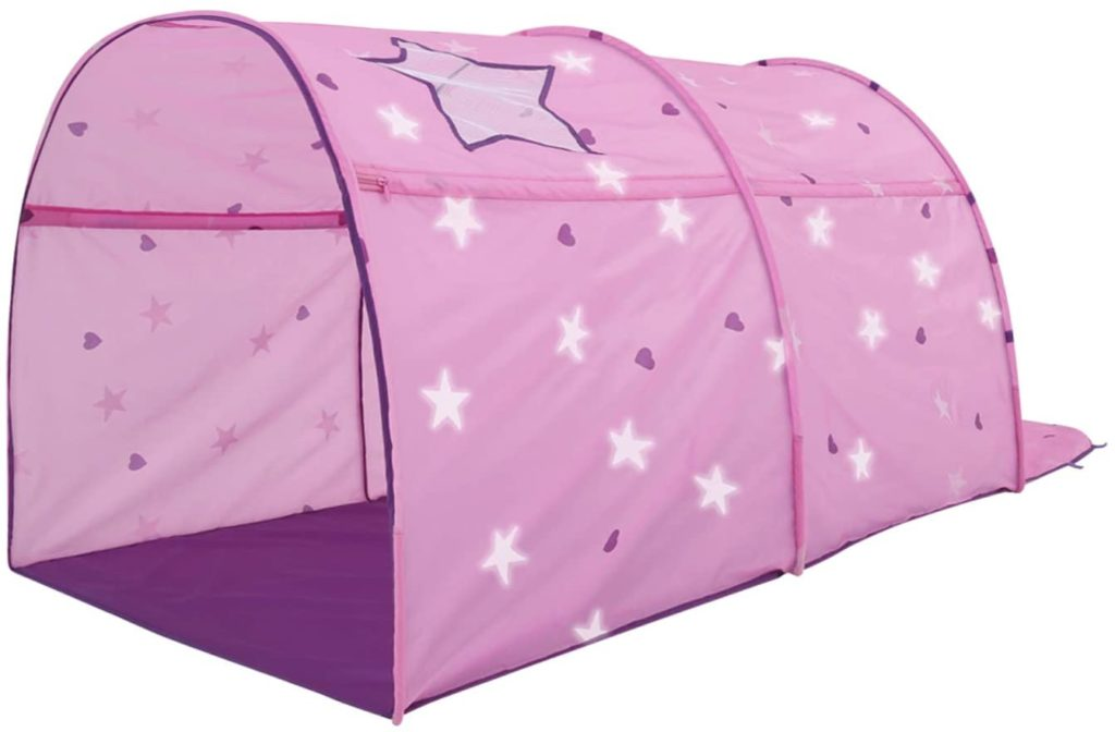 lvantor 2014 Kids Play Indoor Grow Starlight Bed Pink Patent Canopy Dream Frame