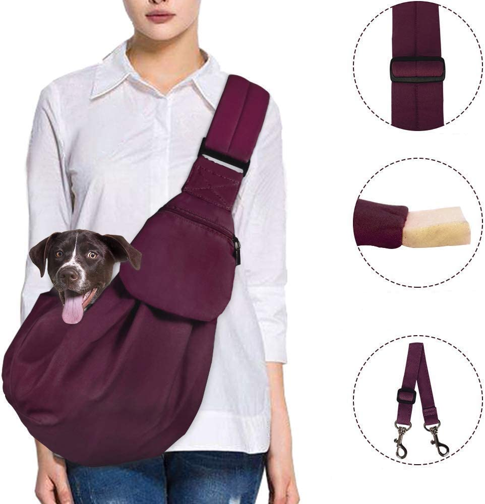 AUTOWT Dog Small Pet Pad Pocket Safety Carrier Strap Belt Papoose Adjustable